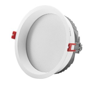 LED Downlight PRISMA weiss, LED 12W 840lm 3000°K CRI80, UGR<19, inkl. Betriebsgerät On/Off